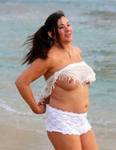 Lisa Appleton bikini beach