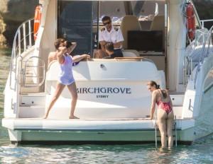 Selena Gomez swimming yacht